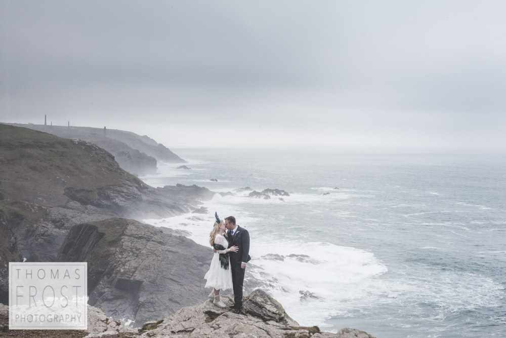 BoHo Cornwall, Elopement, Sea and Cliffs