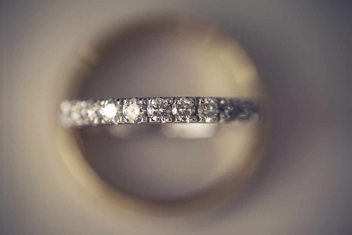 Wedding rings from a Devon wedding with diamonds.Devon wedding photography