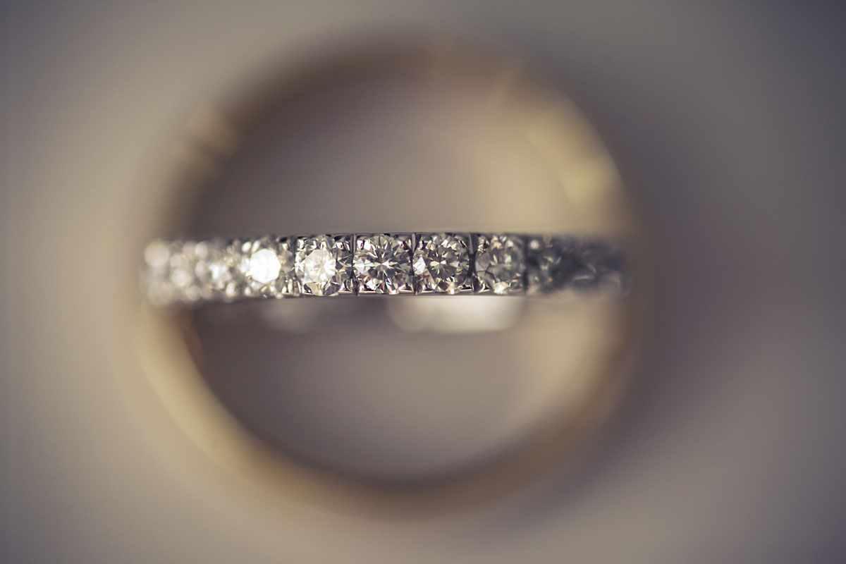 Wedding rings from a Devon wedding with diamonds.Devon wedding photography