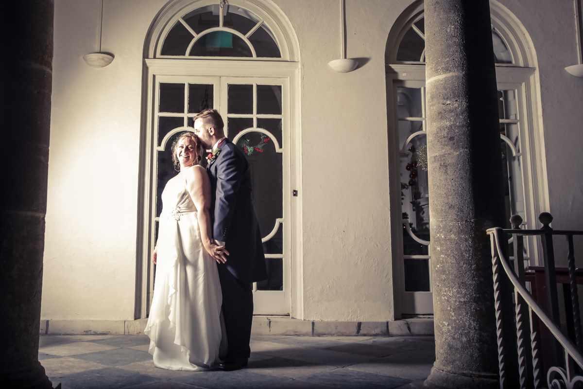 cornwall wedding photographers,Fowey Hall, Cornwall weddings, wedding photography, couple lit my side light