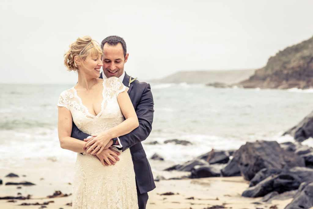 Cornwall Wedding Photographer at a beach wedding in St Just
