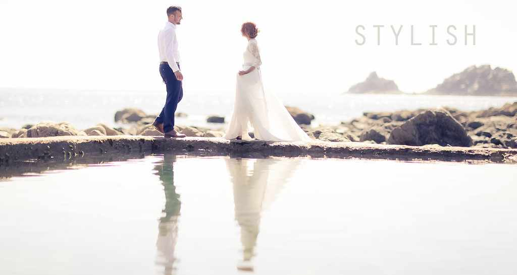 Cornwall Wedding Photographer, capturing an elopement on the coast