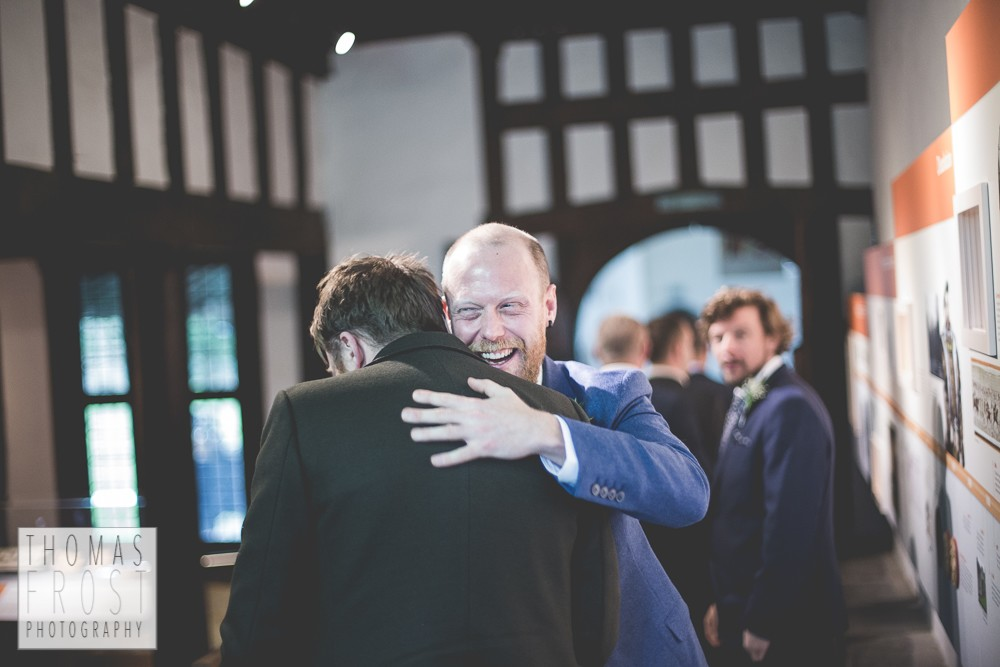 Prittlewell Priory Wedding, Southend-on-sea, groom and guests