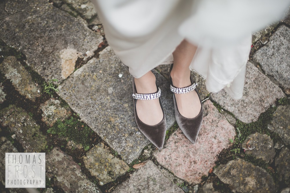 wedding shoes at Prittlewell Priory Wedding, Southend-on-sea.