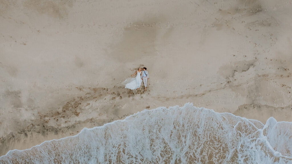 eloping on a beach