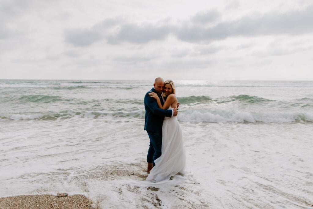 eloping on the beach