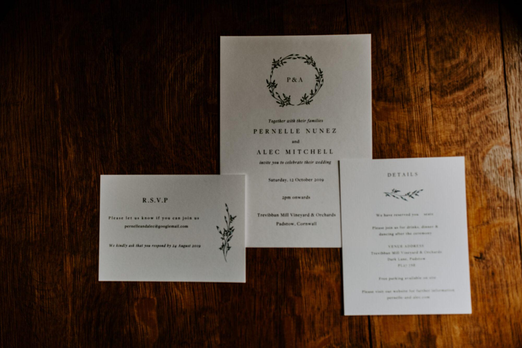 Trevibban Mill Wedding details
