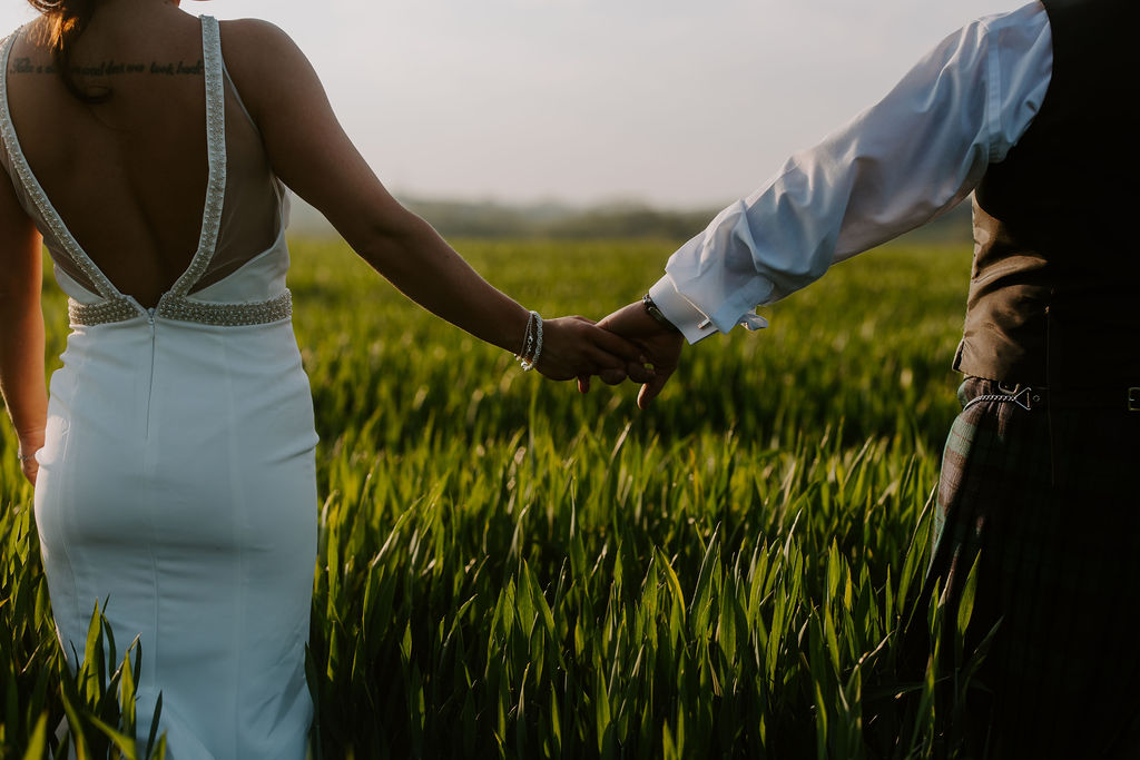gorgeous romantic image at wedding in Cornwall