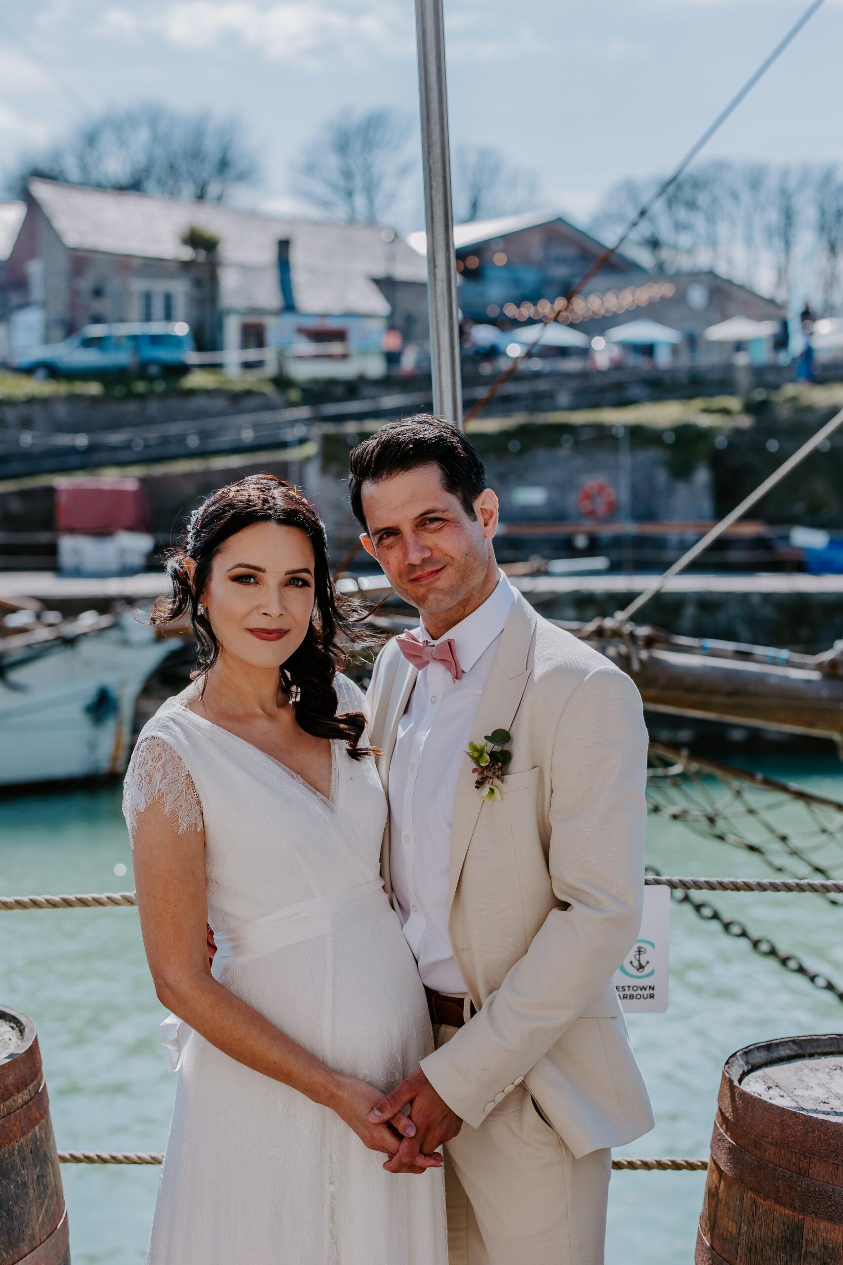 wedding in Charlestown Cornwall