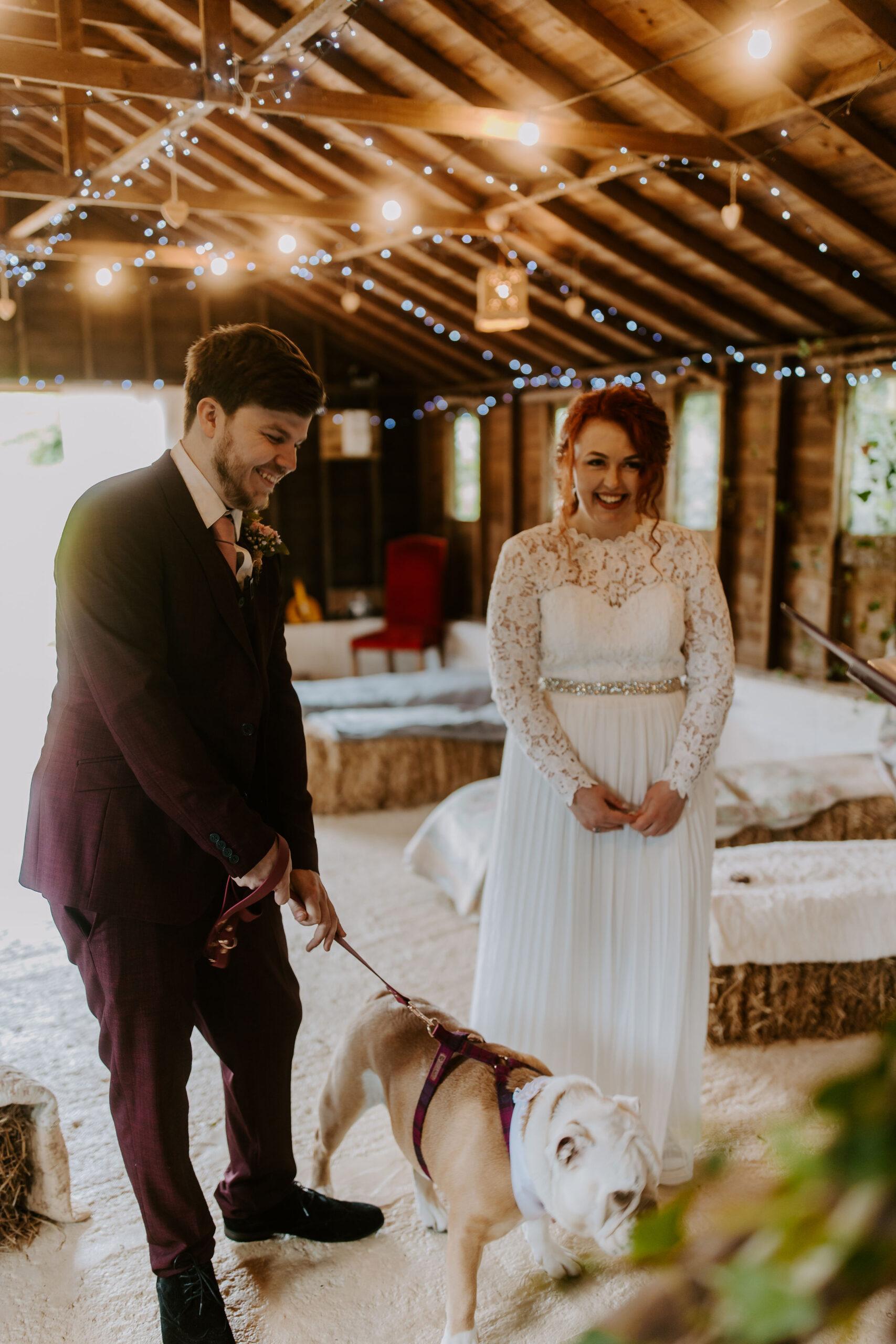 rustic elopement wedding in Cornwall