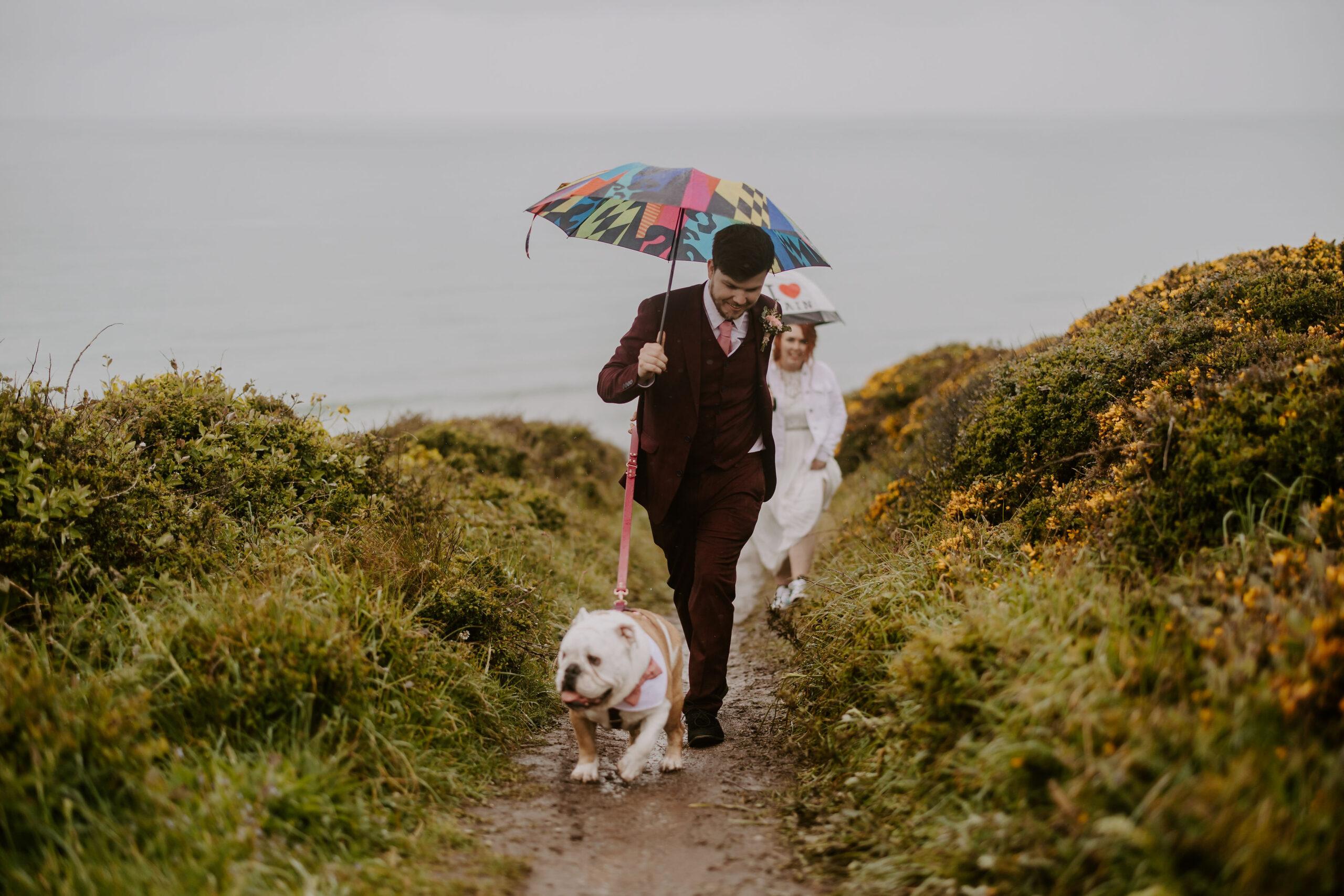 wedding adventures at elopement in Cornwall
