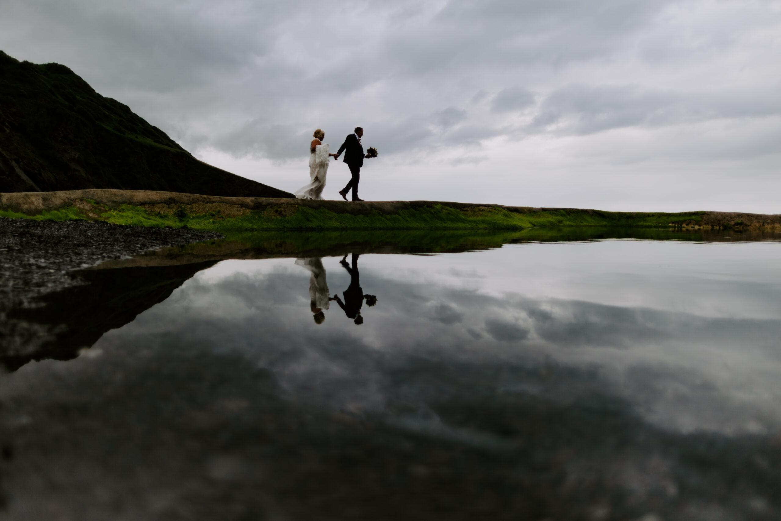 romantic beach wedding in Devon