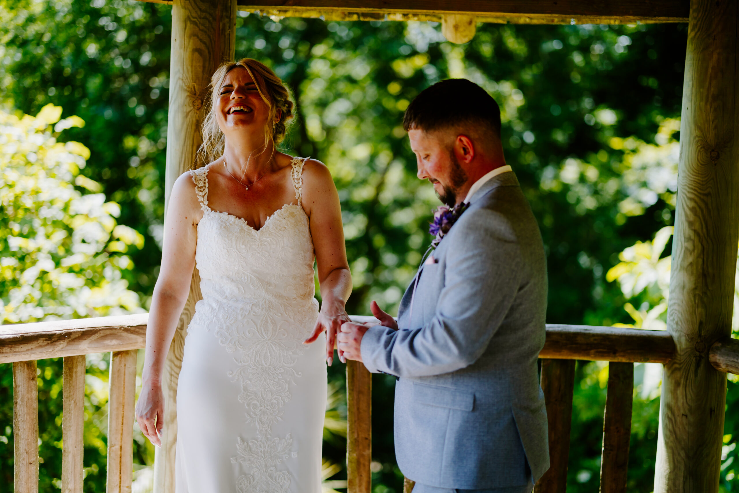 precious moments at Cornwall elopement wedding